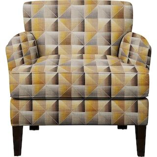 Marcus Chair w/ Immortal Lemoncello Fabric