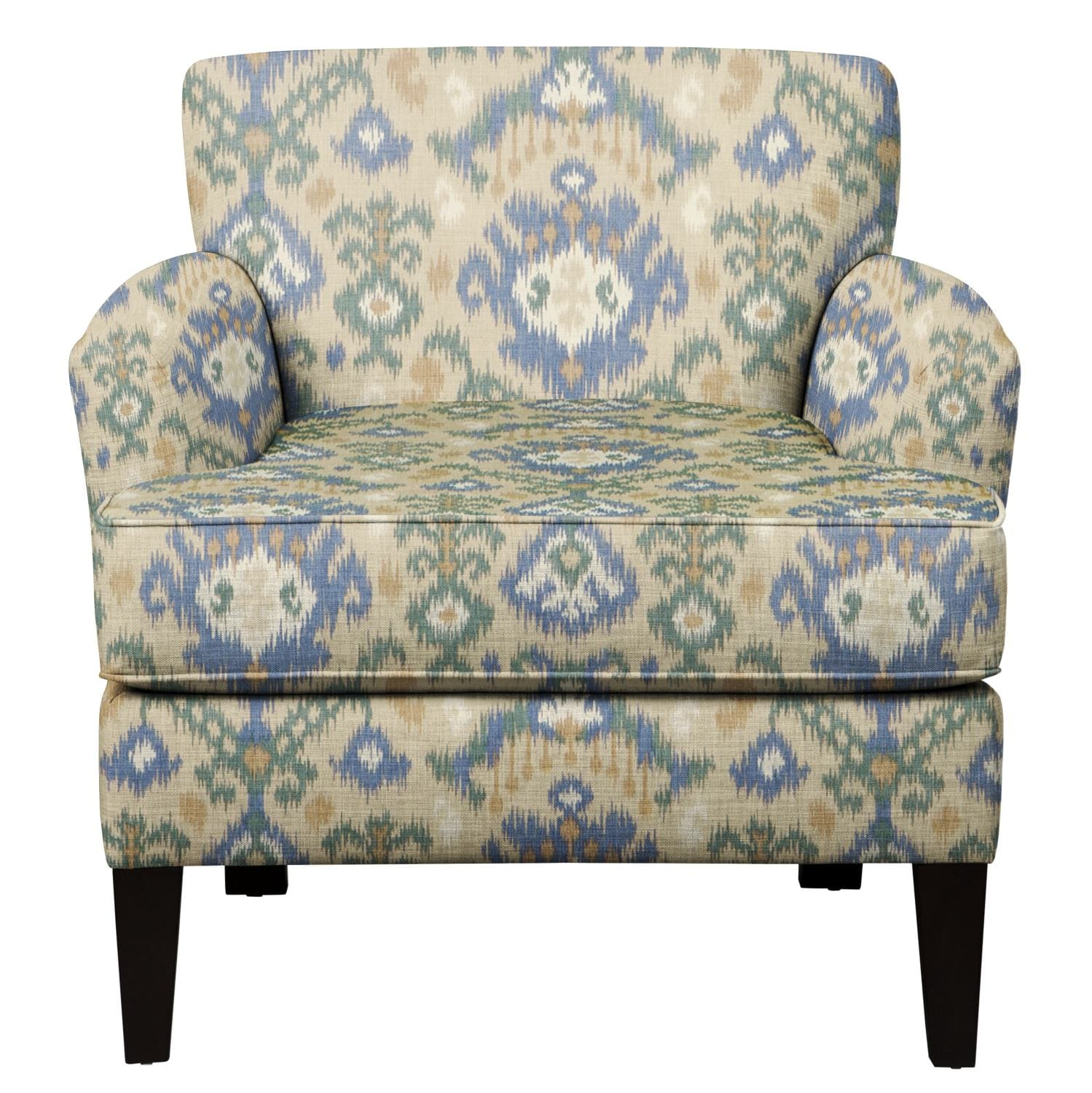 Living Room Furniture - Marcus Chair w/ Blurred Lines Big Sky Fabric