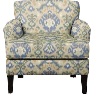Marcus Chair w/ Blurred Lines Big Sky Fabric