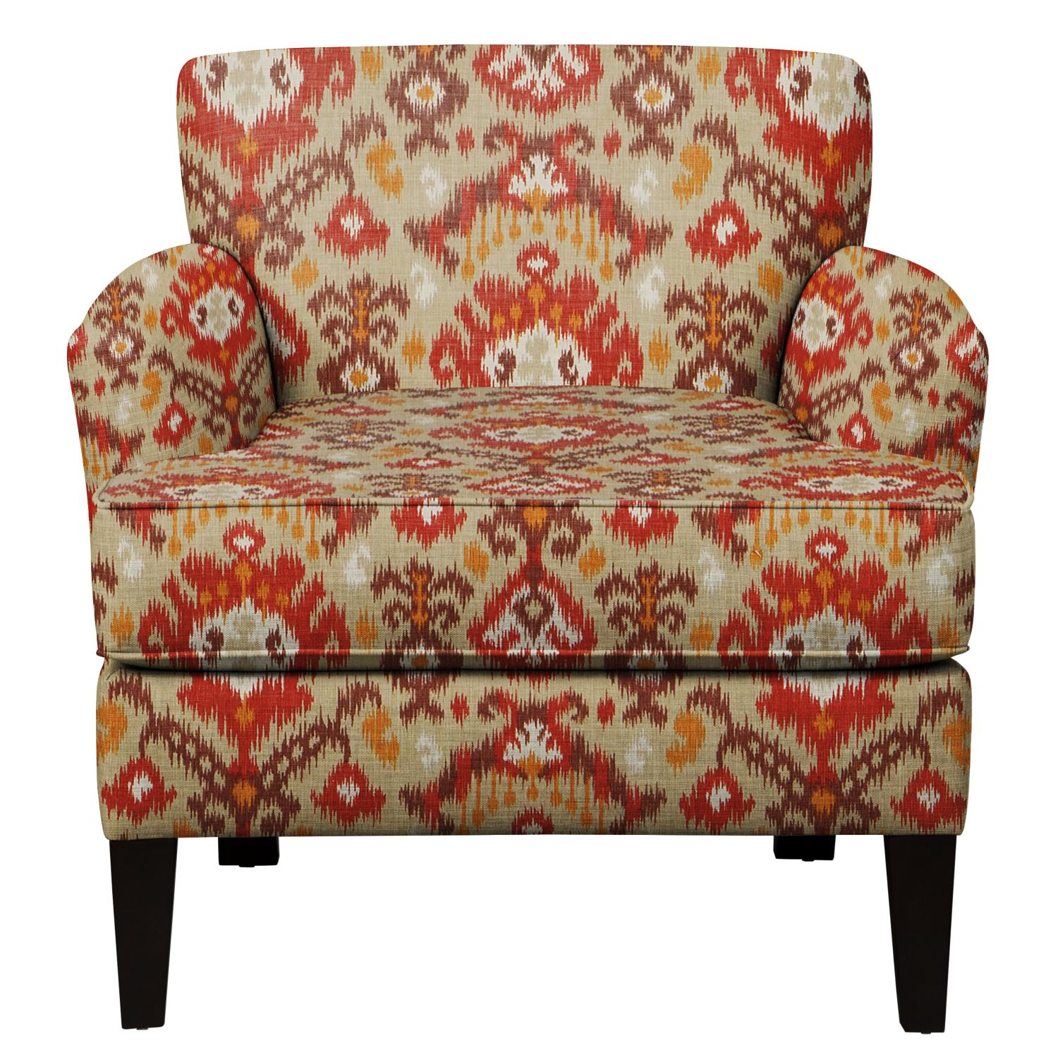 Marcus Chair w/ Blurred Lines Sante Fe Fabric