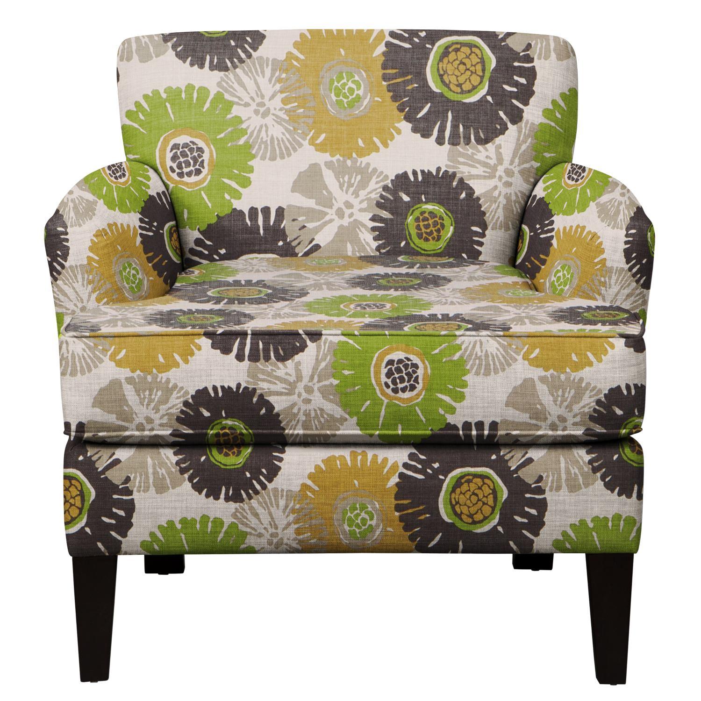 Living Room Furniture - Marcus Chair w/ Star Burst Slate Fabric