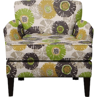 Marcus Chair w/ Star Burst Slate Fabric