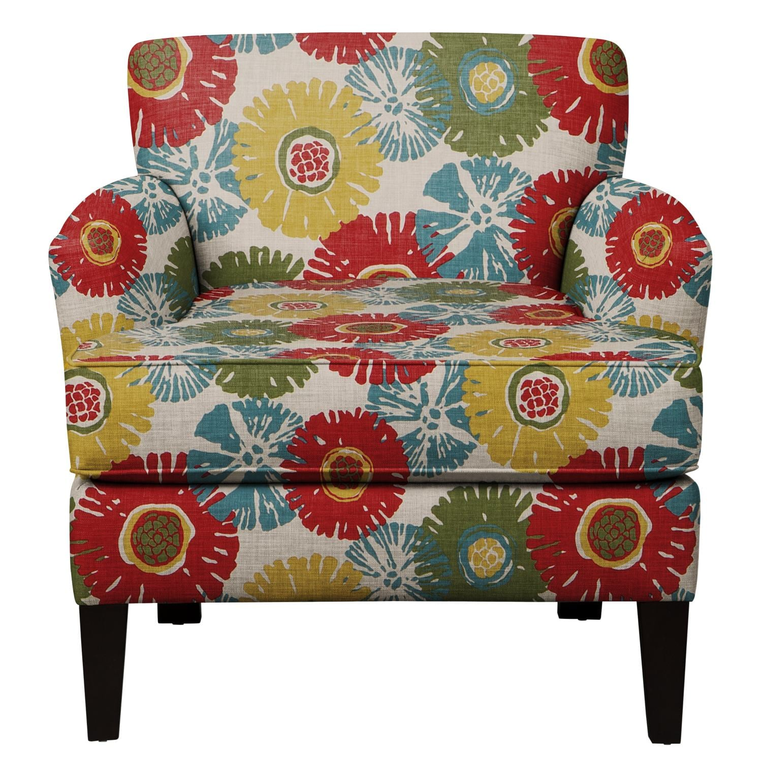 Living Room Furniture - Marcus Chair w/ Star Burst Tropic Fabric
