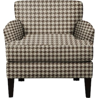Marcus Chair w/ Watson Chocolate Fabric