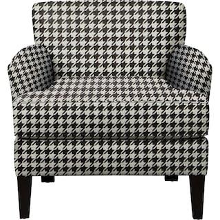 Marcus Chair w/ Watson Tuxedo Fabric