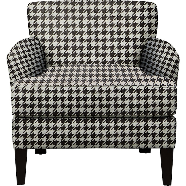 Living Room Furniture - Marcus Chair w/ Watson Tuxedo Fabric