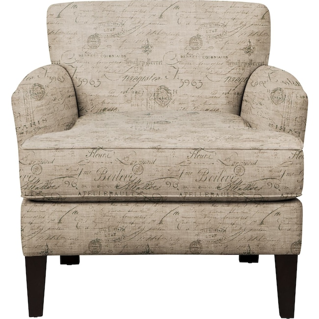 Living Room Furniture - Marcus Chair w/ Seine Gray Fabric