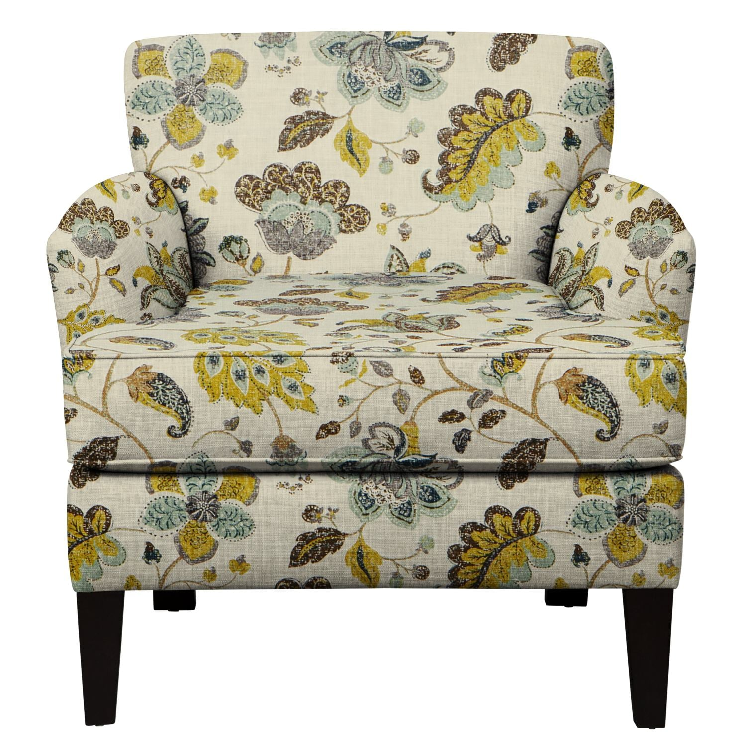 Living Room Furniture - Marcus Chair w/ Spring Mix Aloe Fabric