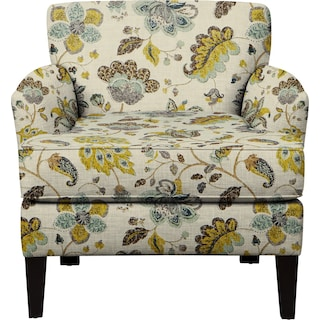 Marcus Chair w/ Spring Mix Aloe Fabric