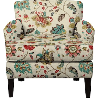 Marcus Chair w/ Spring Mix Poppy Fabric
