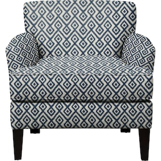 Marcus Chair w/ Tate Indigo Fabric