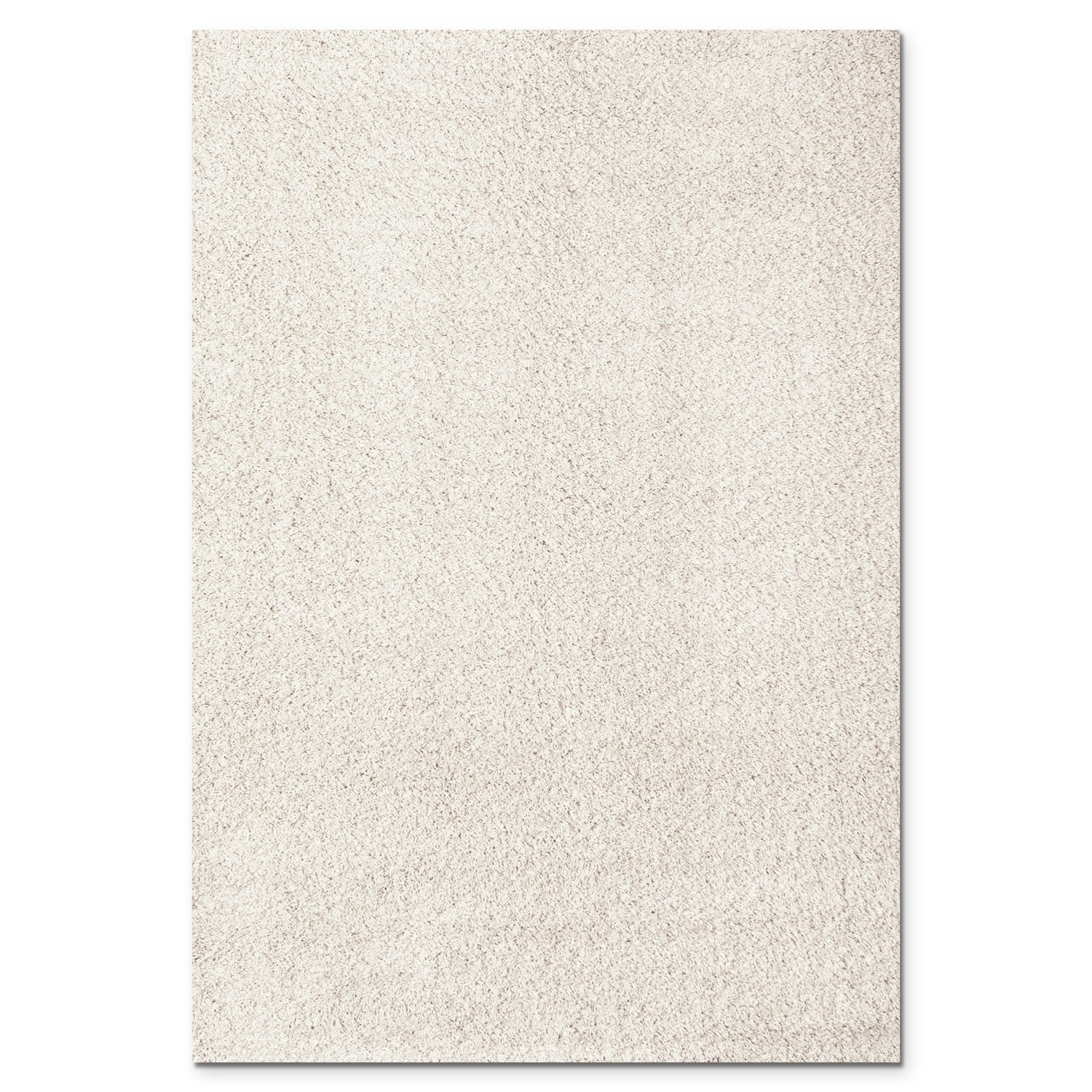 Domino White Shag Area Rug (8' x 10')