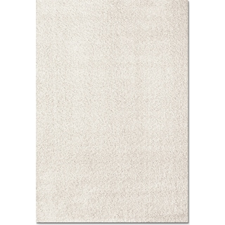Domino Shag 5' x 8' Area Rug - White