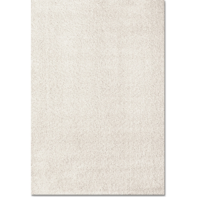 Rugs - Domino Shag 8' x 10' Area Rug - White