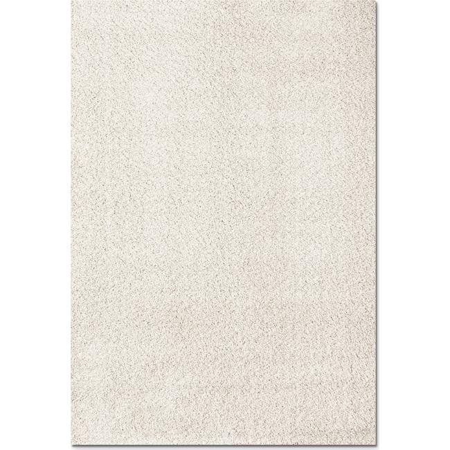 Rugs - Domino Shag 5' x 8' Area Rug - White