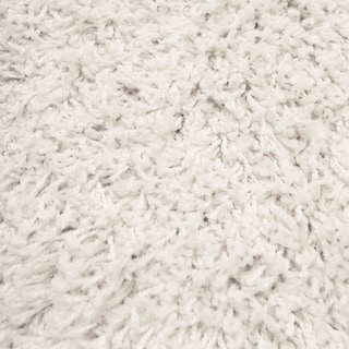 Domino Shag Area Rug - White
