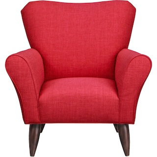 Jessie Chair w/ Depalma Cherry Fabric