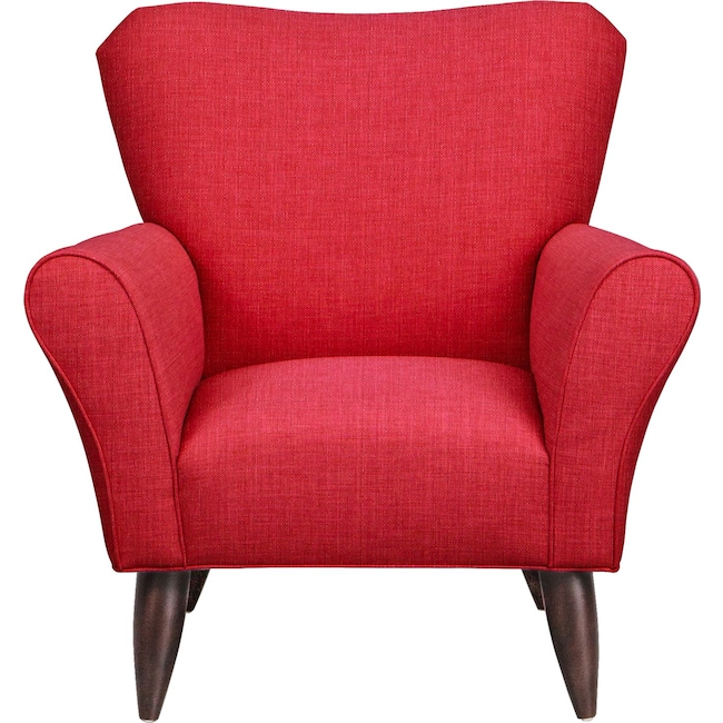 Living Room Furniture - Jessie Chair w/ Depalma Cherry Fabric