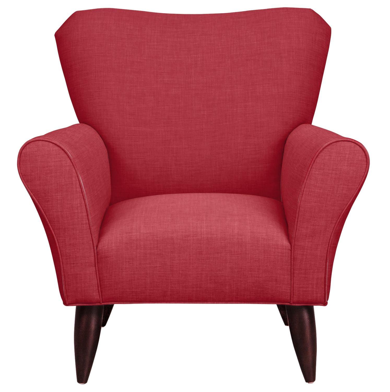 Jessie Chair w/ Oakley III Tomato Fabric