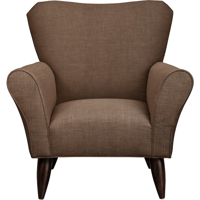 Living Room Furniture - Jessie Chair w/ Oakley III Java Fabric