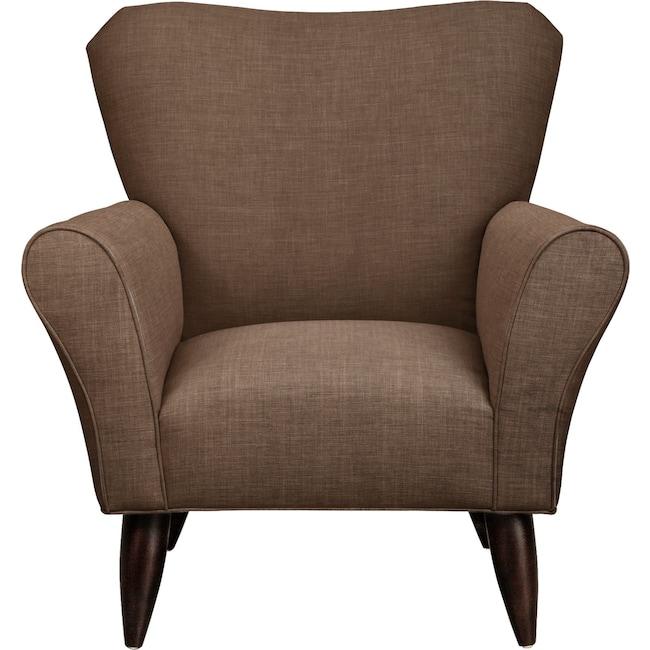 Living Room Furniture - Jessie Chair w/ Oakley III Java Fabric