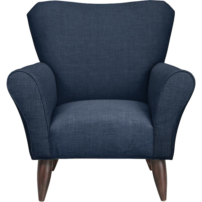 Living Room Furniture - Jessie Chair w/ Oakley III Ink Fabric