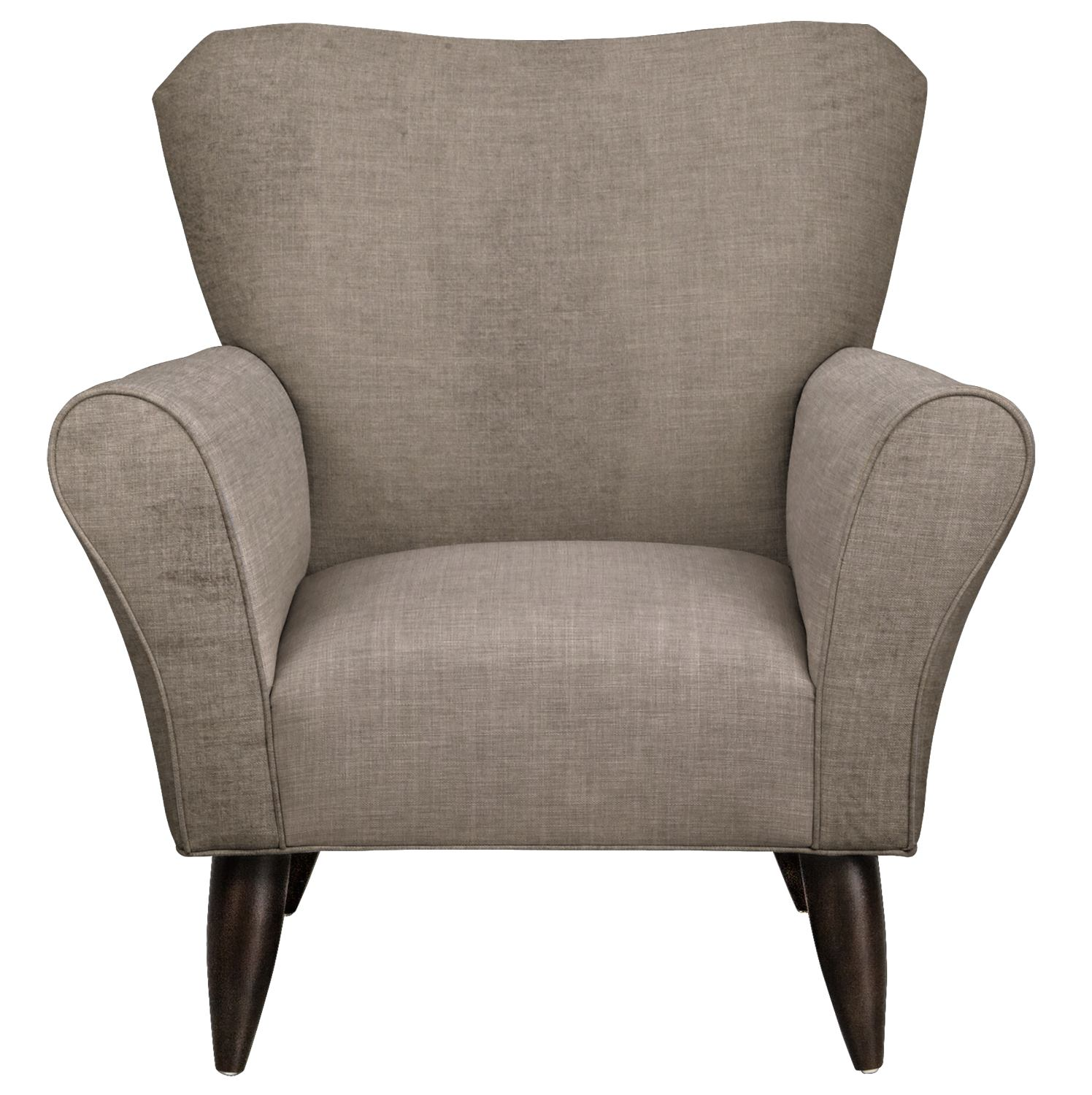 Living Room Furniture - Jessie Chair w/ Oakley III Granite Fabric