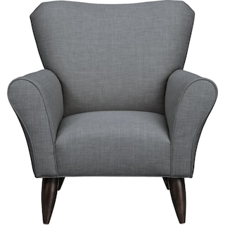 Jessie Chair w/ Milford II Charcoal Fabric