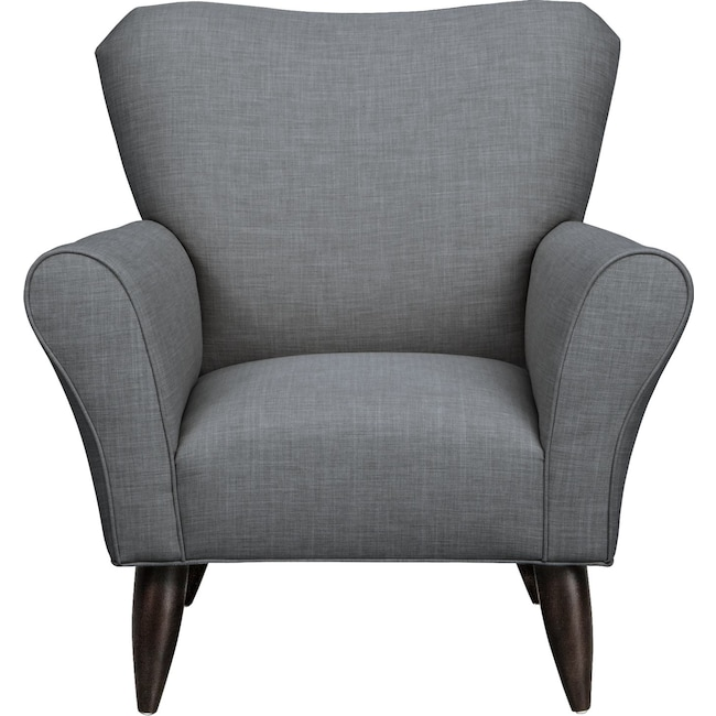 Living Room Furniture - Jessie Chair w/ Millford II Charcoal Fabric