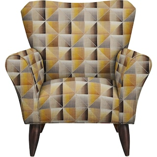 Jessie Chair w/ Immortal Lemoncello Fabric