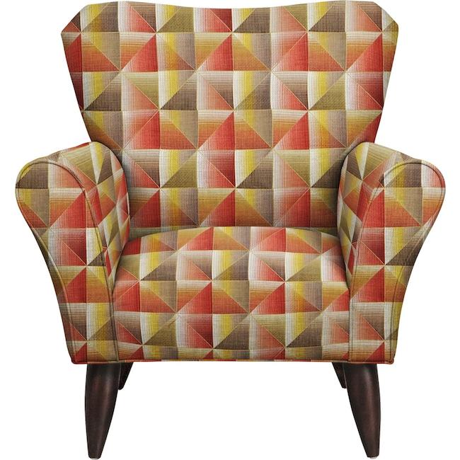 Living Room Furniture - Jessie Chair w/ Immortal Sienna Fabric