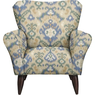 Jessie Chair w/ Blurred Lines Big Sky Fabric