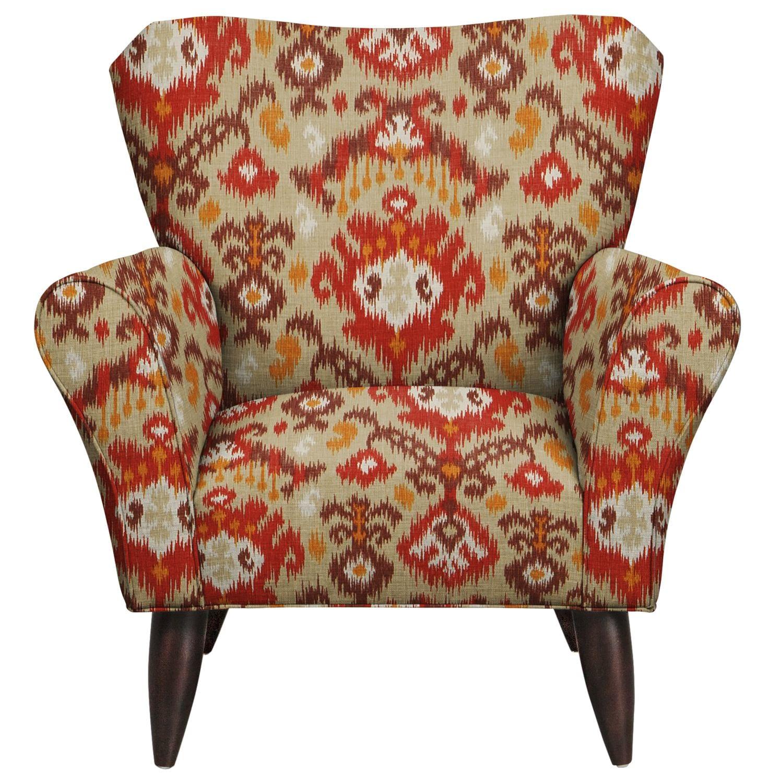 Jessie Chair w/ Blurred Lines Sante Fe Fabric