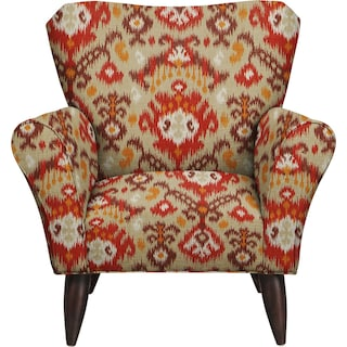 Jessie Chair w/ Blurred Lines Sante Fe Fabric
