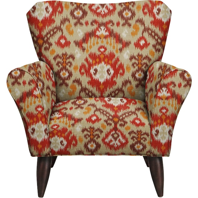 Living Room Furniture - Jessie Chair w/ Blurred Lines Sante Fe Fabric