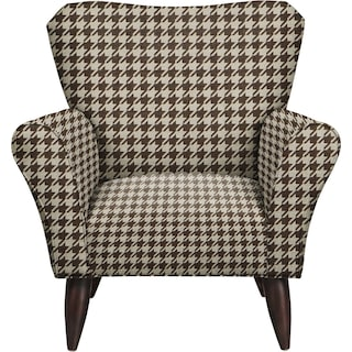 Jessie Chair w/ Watson Chocolate Fabric