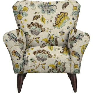 Jessie Chair w/ Spring Mix Aloe Fabric