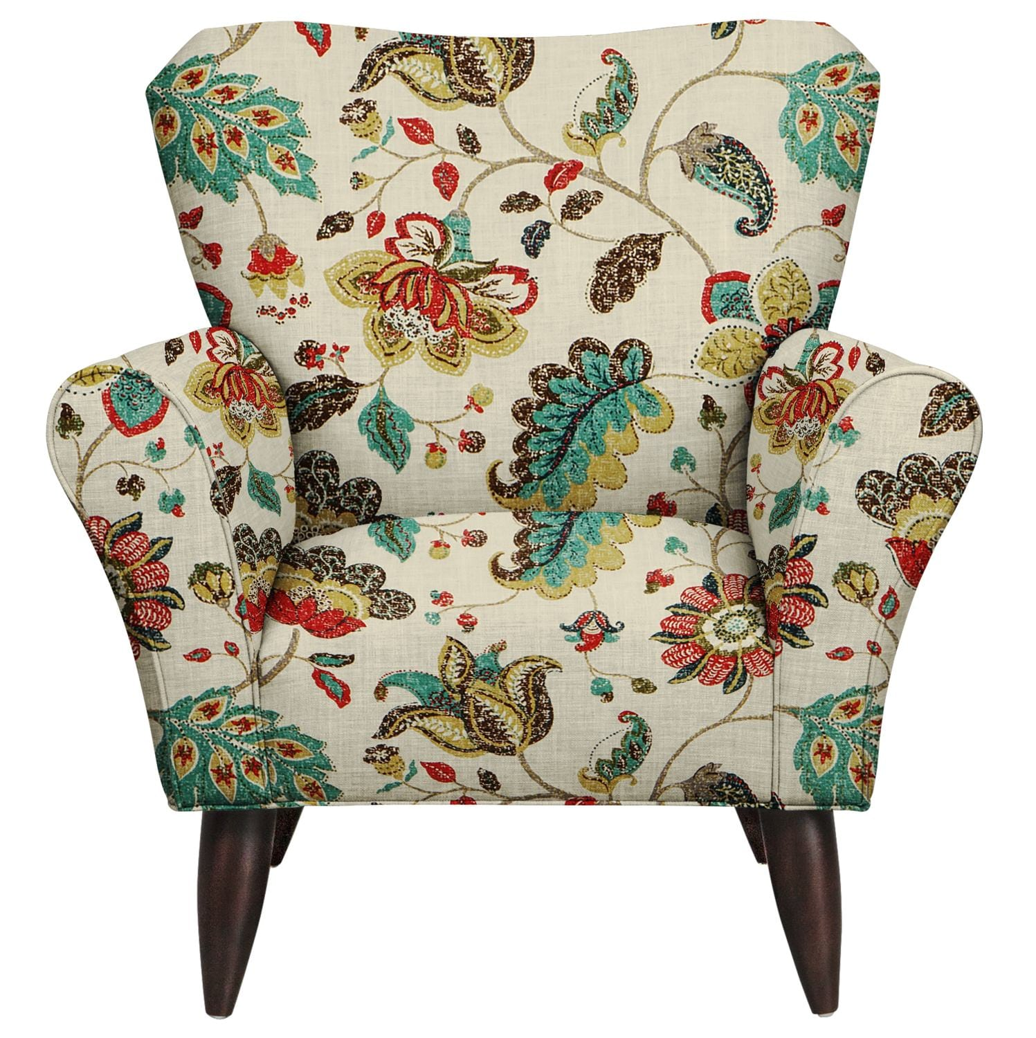 Living Room Furniture   Jessie Chair W/ Spring Mix Poppy Fabric