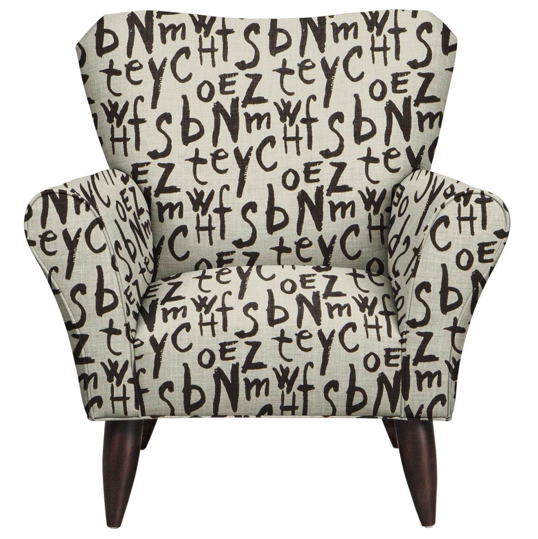 Jessie Chair w/ American Grafitti Raven Fabric