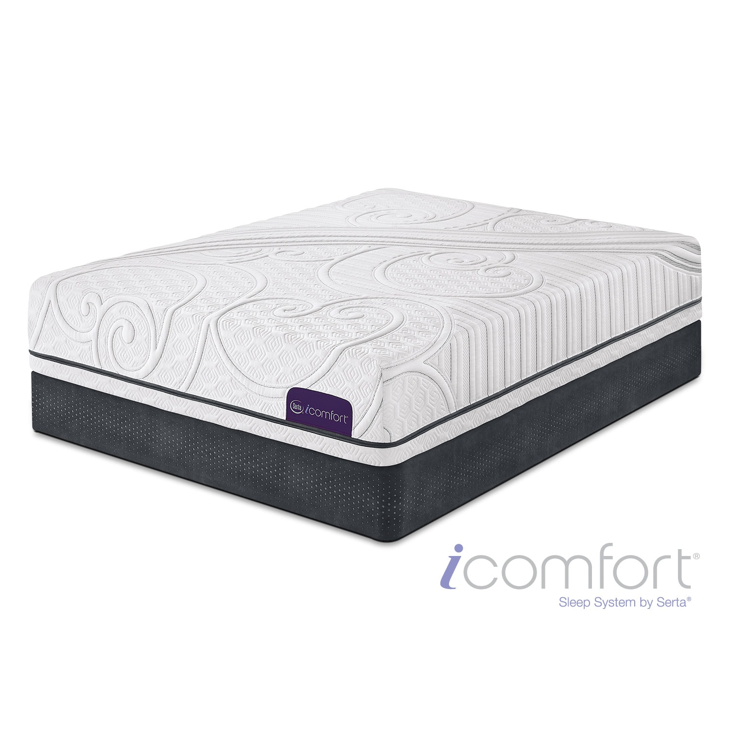 Mattresses and Bedding - iComfort Guidance California King Mattress/Split Foundation Set