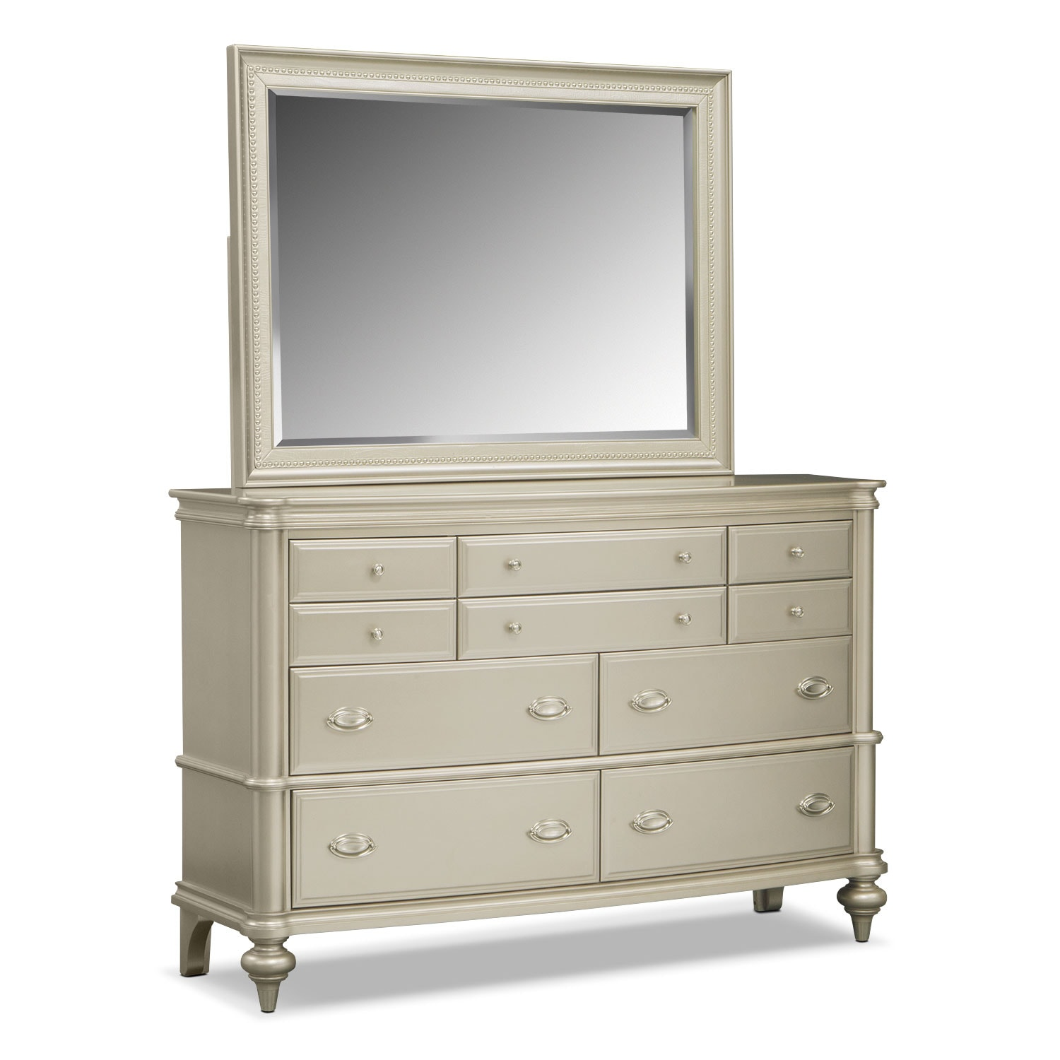 Bedroom Furniture - Esquire Dresser and Mirror
