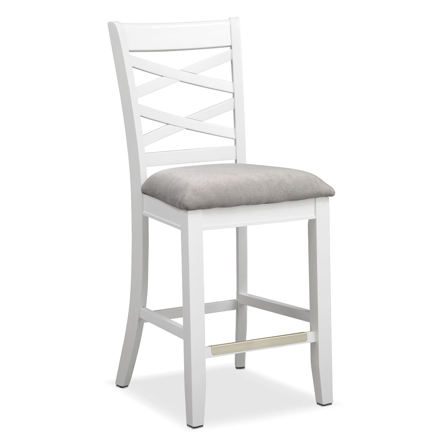 Americana White Counter-Height Stool