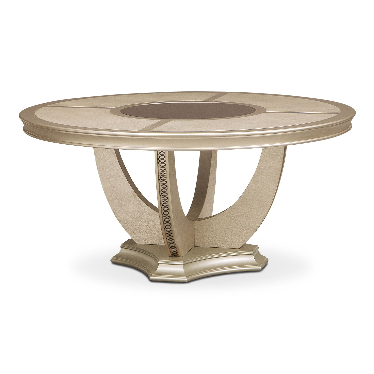 Allegro Round Dining Table - Platinum