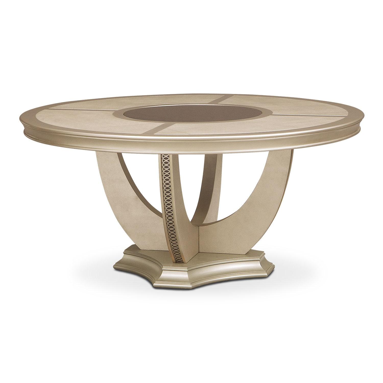 Allegro Round Dining Table - Platinum