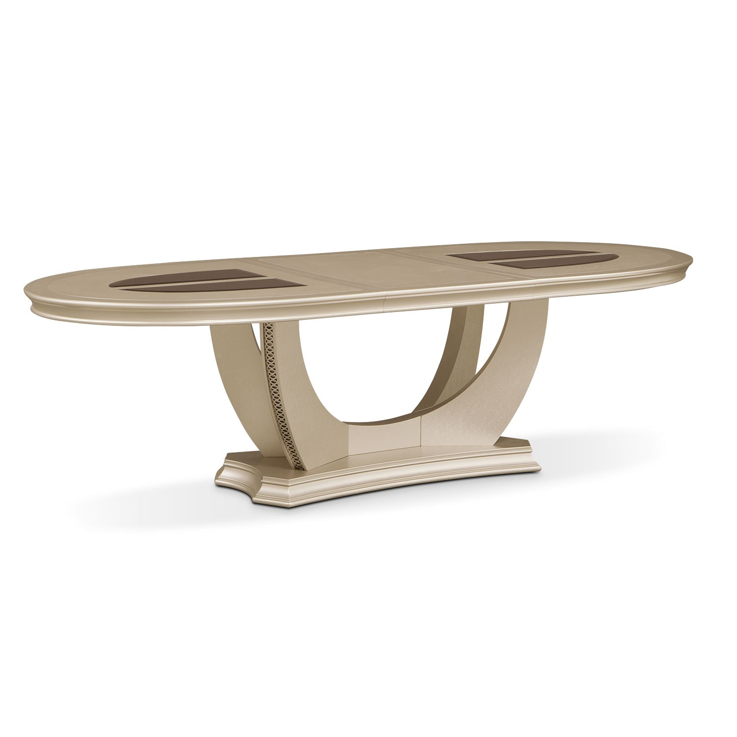 Allegro Oval Dining Table - Platinum