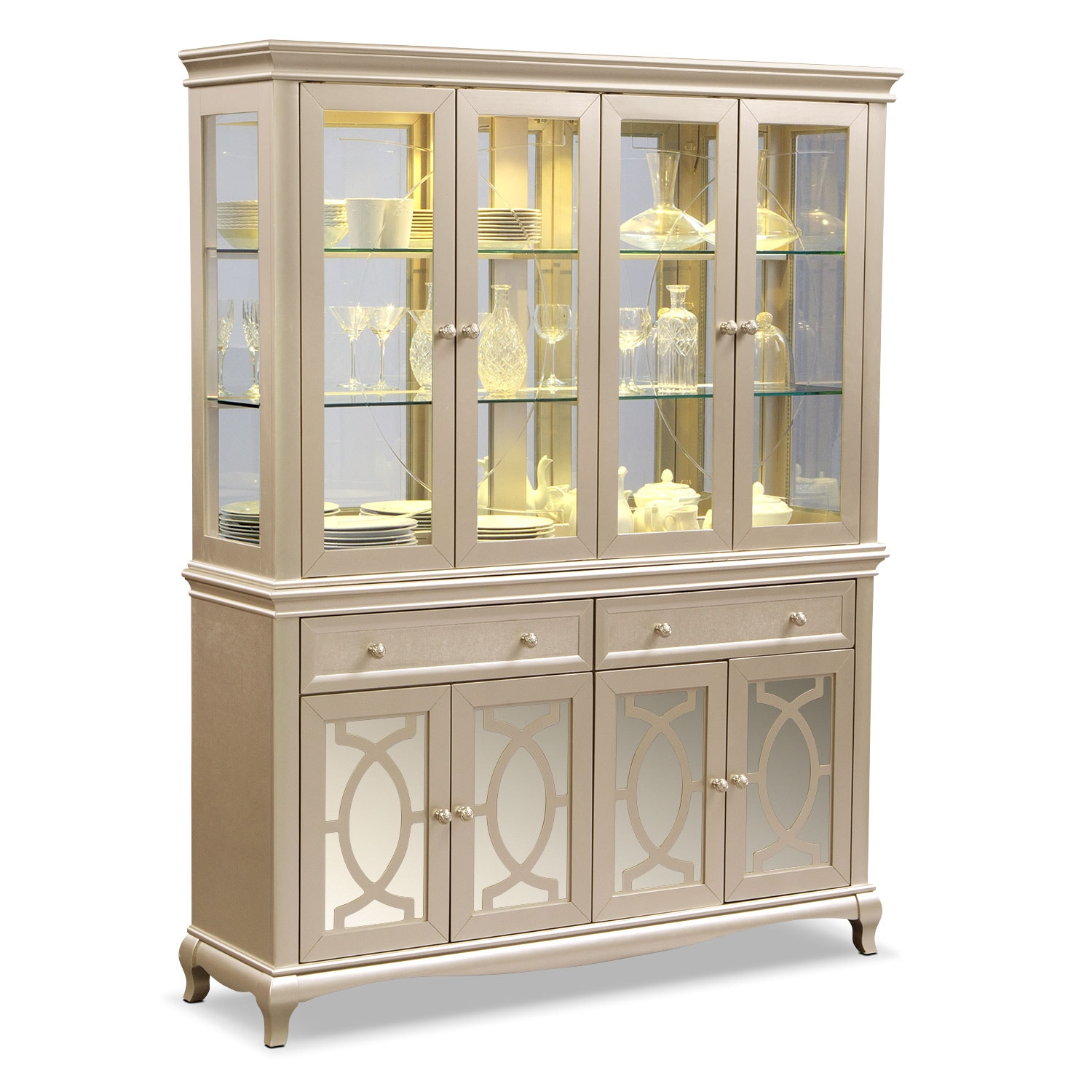 Dining room storage cabinets american signature furniture for Dining room wall furniture