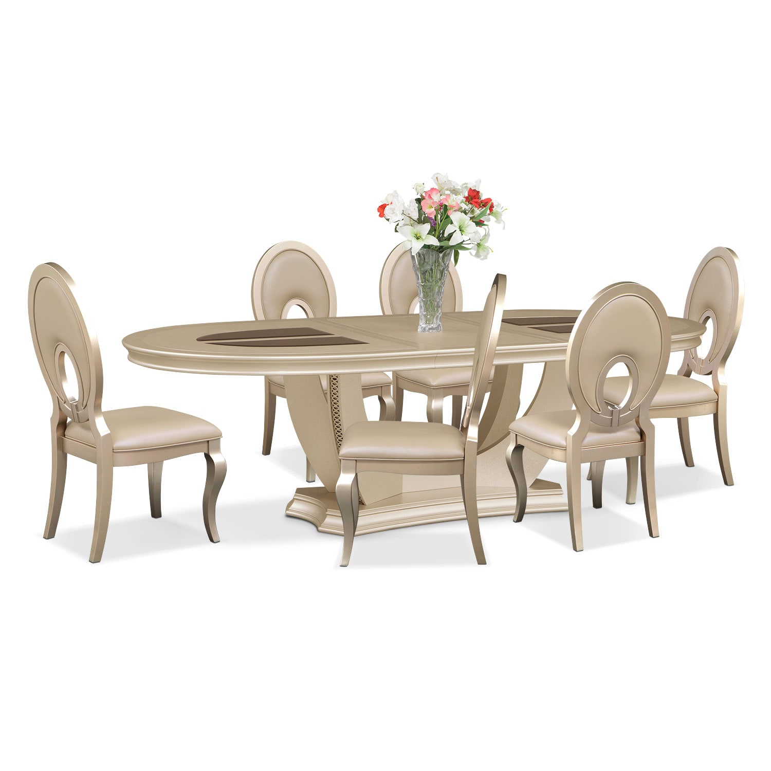 Dining Room Furniture - Allegro 7 Pc. Dining Room - Oval