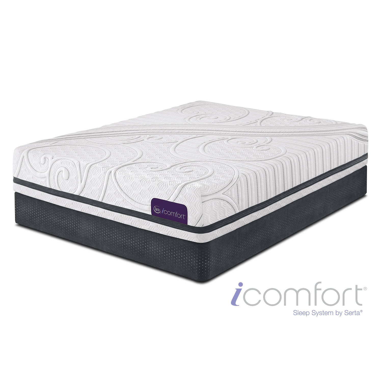 Mattresses and Bedding - Savant III Plush Queen Mattress/Split Foundation Set