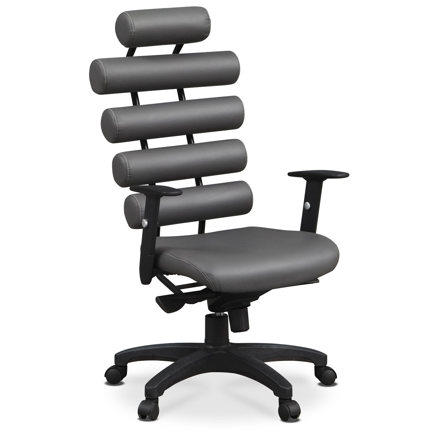 Home Office Furniture - Norton Office Arm Chair - Gray