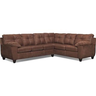 Ricardo 2-Piece Memory Foam Sleeper Sectional with Right-Facing Sofa - Coffee
